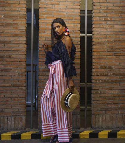 Pants - Senica Candy Cane Striped Pants