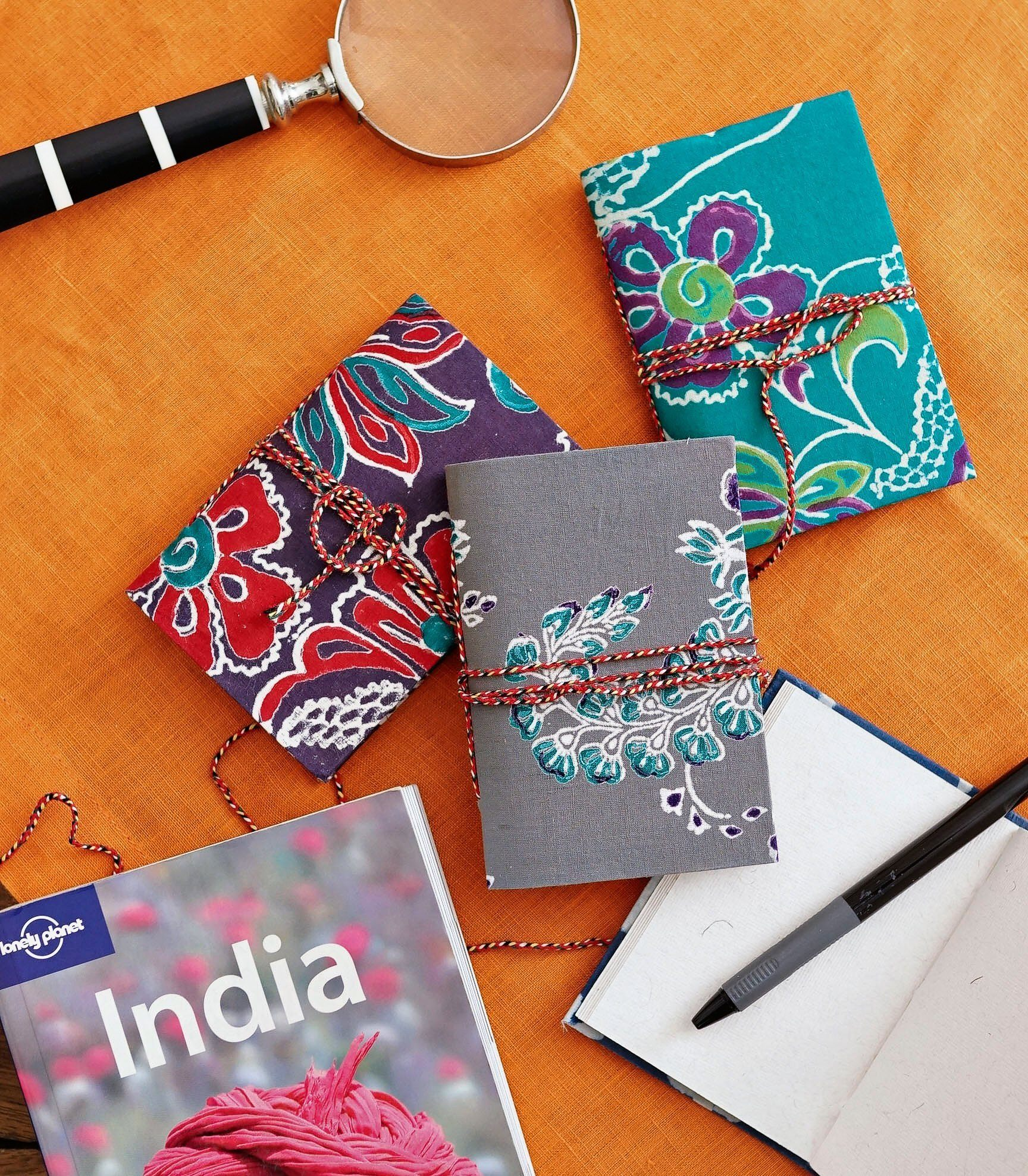 Paper - Jharna Handmade Tree Free Notebook - Floral