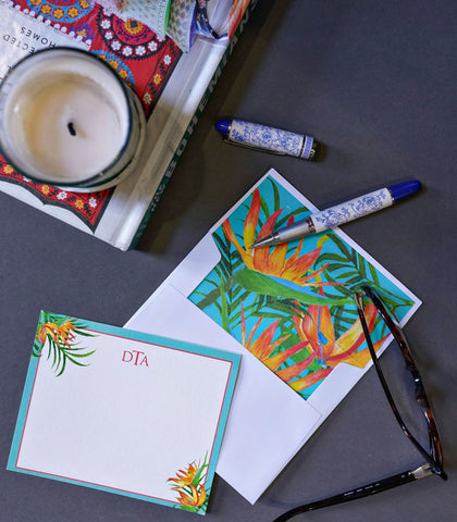 Paper - Monogrammed Folded Correspondence Cards