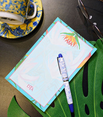 Paper - Monogrammed Medium Note Pads