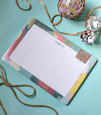 Paper - Rifle Paper Co. Paint Strokes Weekly Desk Planner