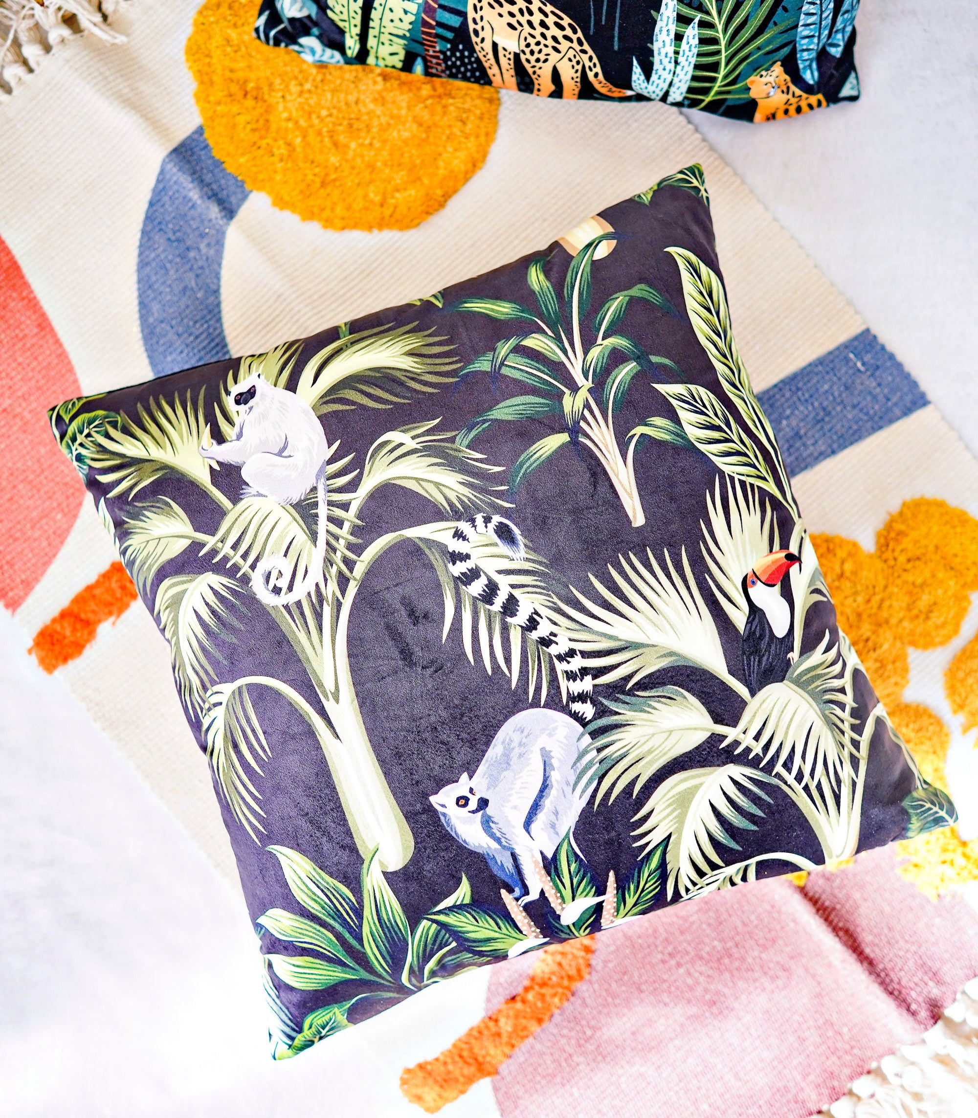 Pillow Cover - Animals In The Jungle Pillow Cover