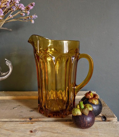 Pitcher - Addison Glass Pitcher - Amber