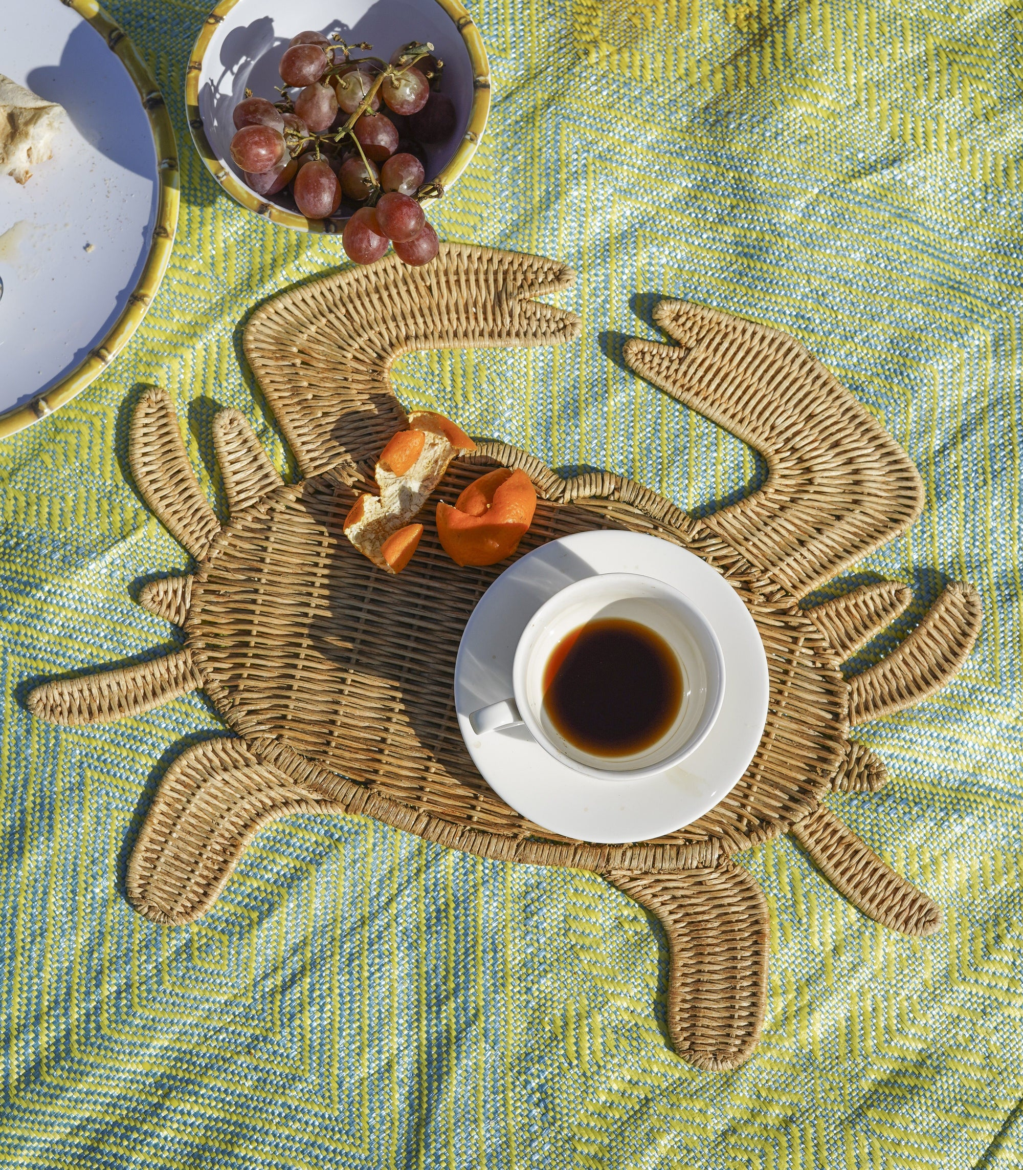 Placemat - Solano Crab Wicker Placemat