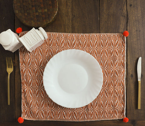Placemats - Azrou Placemat Orange  ( Set Of 4 )