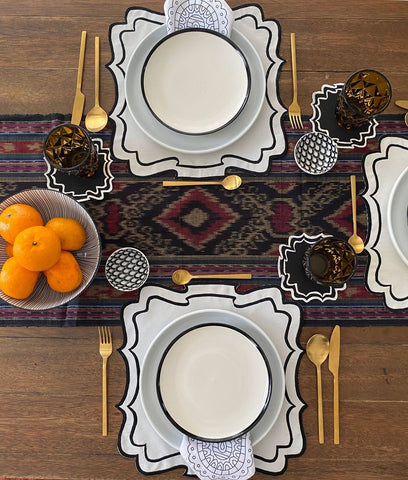 Placemats - Bergamo Border Placemats And Coasters (Set Of 6)