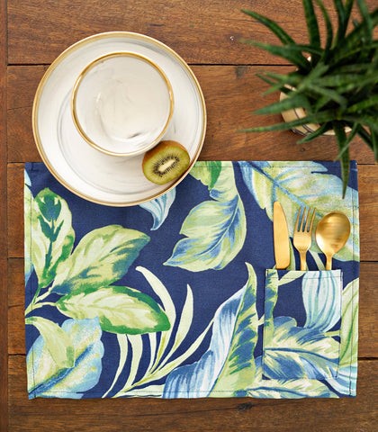 Placemats - Kamu Cotton & Canvas Pocket Placemats - Set Of 6