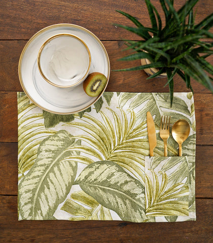 Placemats - Linden Cotton & Canvas Pocket Placemats - Set Of 6