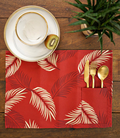 Placemats - Lubi Cotton & Canvas Pocket Placemats - Set Of 6