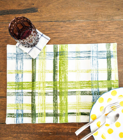 Placemats - Miller Reversible Fabric Placemats And Coasters- Set Of 6