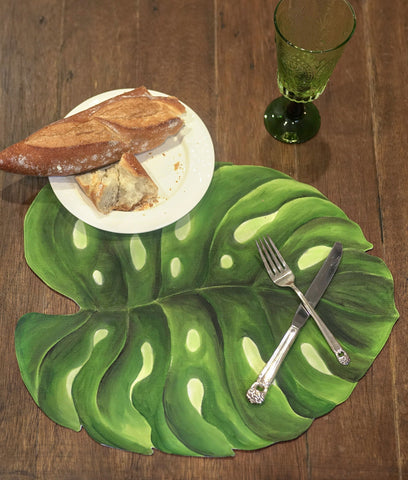 Placemats - Monstera Deliciosa Placemat - Set Of 4