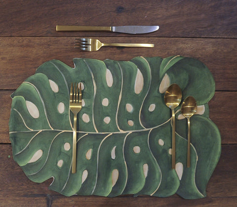 Placemats - Monstera Placemats Set Of 4