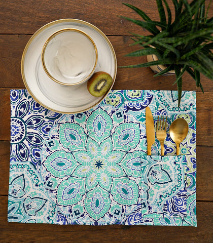 Placemats - Rotti Cotton & Canvas Pocket Placemats - Set Of 6