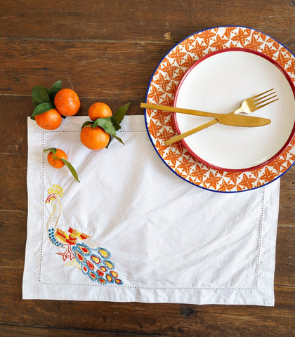 Placemats - Satna Embroidered Placemats (Set Of 4)
