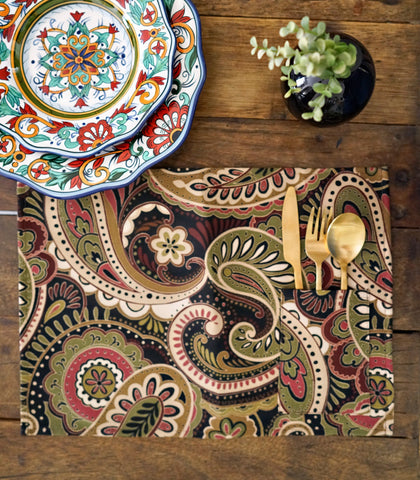 Placemats - Wida Cotton & Canvas Pocket Placemats - Set Of 6