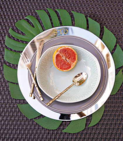 Plate Charger - Monogrammed Round Mirror Plate Charger