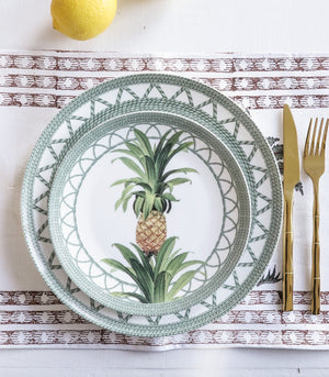 Plate - Mahalo Pineapple Dinner And Salad Plate Set