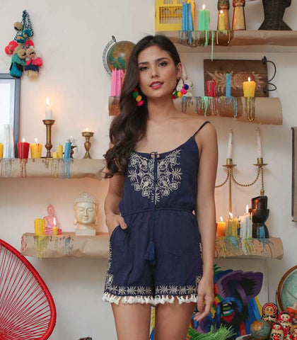 Playsuit - Rambla Embroidered Playsuit