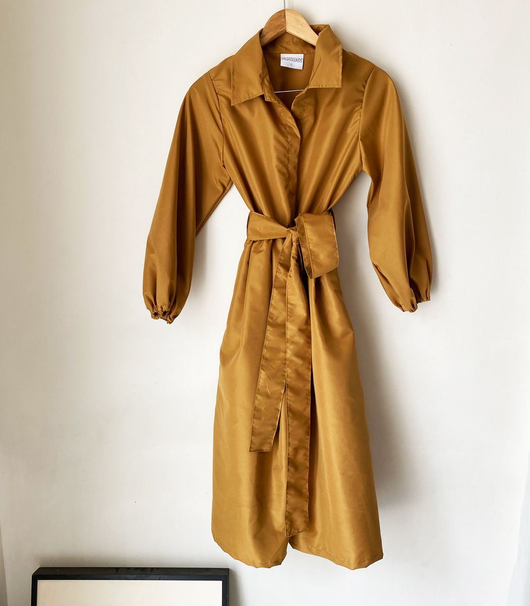 Trench-Style Protective Coat Set with Face Mask (Copper)