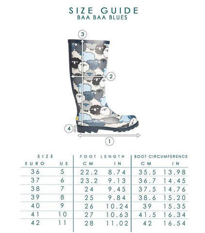 Rain Boots - Plueys Baa Baa Blues Low-Cut Rain Boots