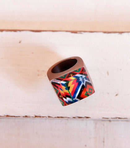 Ring - Para Resin Square Cocktail Ring (Sur Tausug)