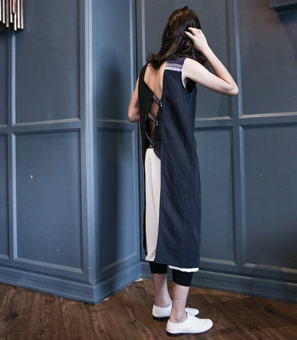 Robe - ANDROGYNE 021 | Asymmentrical Long Vest Robe