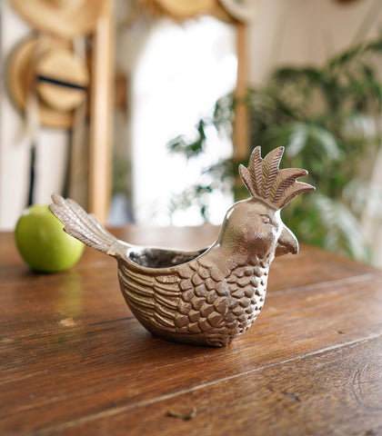 Room Decor - Bird Metal Votive Candle Holder