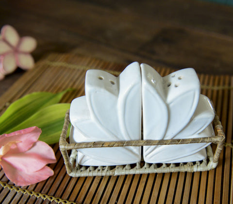 Salt & Pepper Shaker - Lotus Flower Salt & Pepper Set