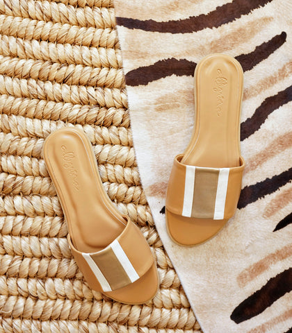 Sandals - Allegrina Flat Leather Slides (2 Variants)