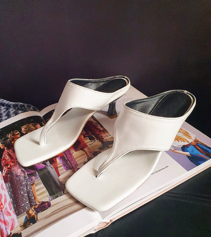 Sandals - Andria Mule Sandals (White)