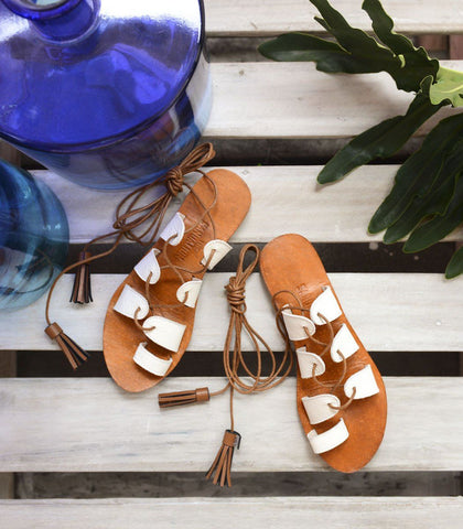 Sandals - Antheia Lace-up Leather Sandals