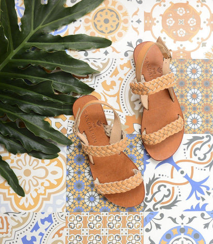 Sandals - Callisto Leather Braided Sandals