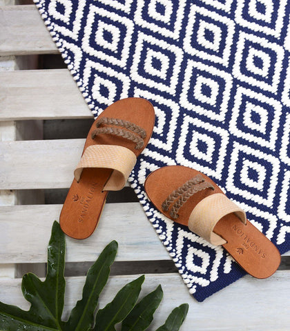 Sandals - Calypso Leather Slides