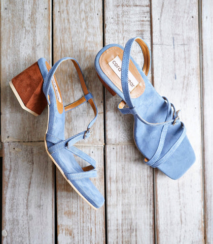 Sandals - Clementine Heeled Sandals - Denim