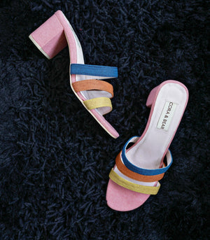 Sandals - Foxtrot Strappy Mule - Pink Mix (STU Exclusive)