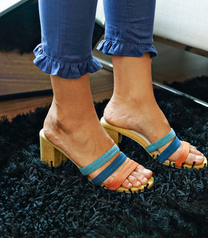 Sandals - Foxtrot Strappy Mule - Yellow Mix (STU Exclusive)