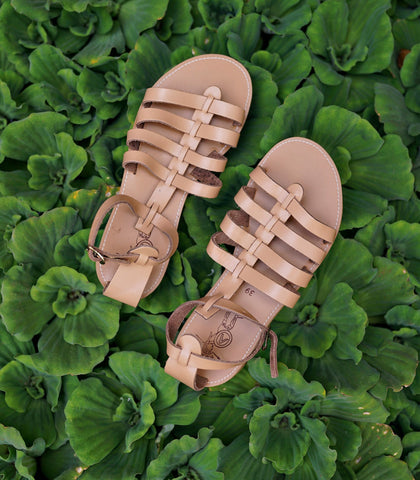 Sandals - Hellas Classic Roman Sandals (Nude)