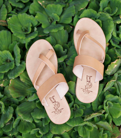 Sandals - Hellas Cross-Toe Strap Sandals (3 Variants)