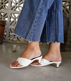 Kilen Faux Leather Heeled Slides