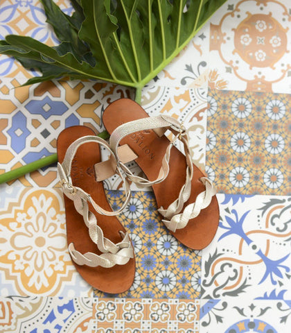 Sandals - Leto Braided Leather Sandals