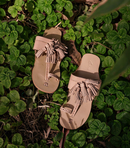 Sandals - Lucine Leather Tassel Slides