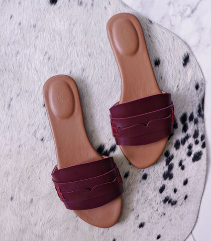 Sandals - Mina Leather Sandals (STU Exclusive Colors)