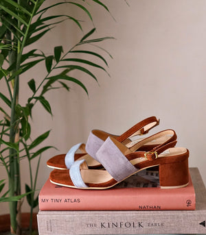 Sandals - Palermo Heeled Sandals - Gray