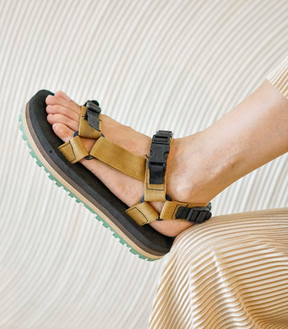Sandals - Ramir Striped Flatform Sport Sandals (Desert)