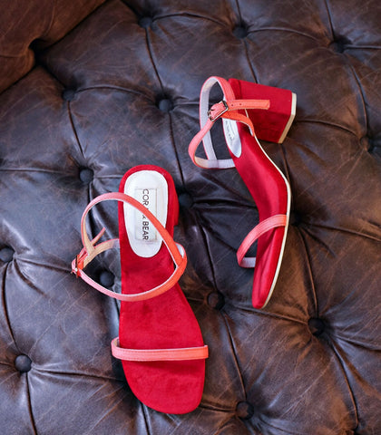Sandals - Salsa Block-Heeled Sandals - Strawberry (STU Exclusive)