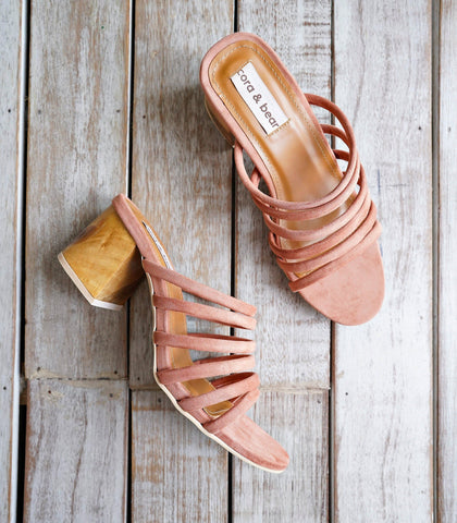 Sandals - Selva Strappy Heeled Sandals - Clay