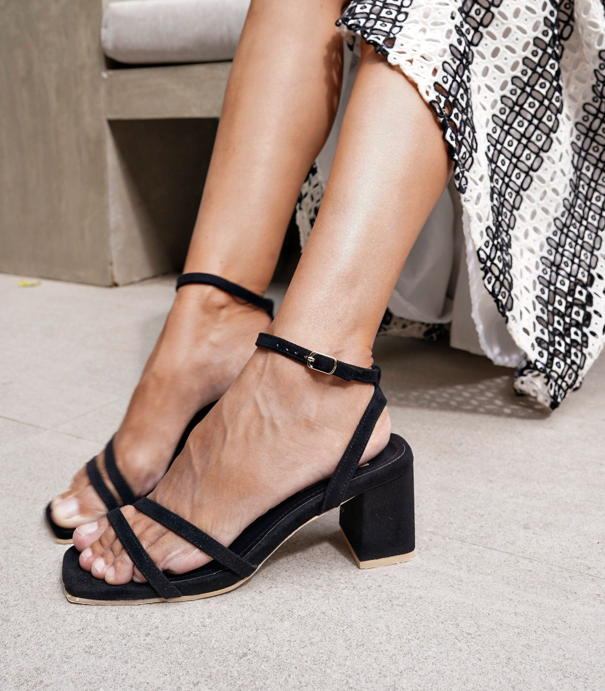 Topanga Heeled Sandals - Black