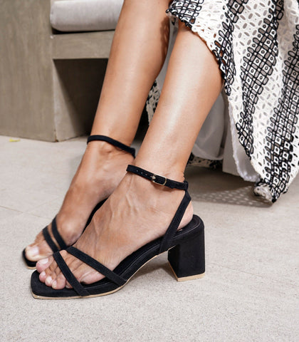 Sandals - Topanga Heeled Sandals - Black