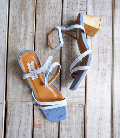 Sandals - Topanga Heeled Sandals - Cornflower