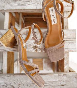 Topanga Heeled Sandals - Taupe